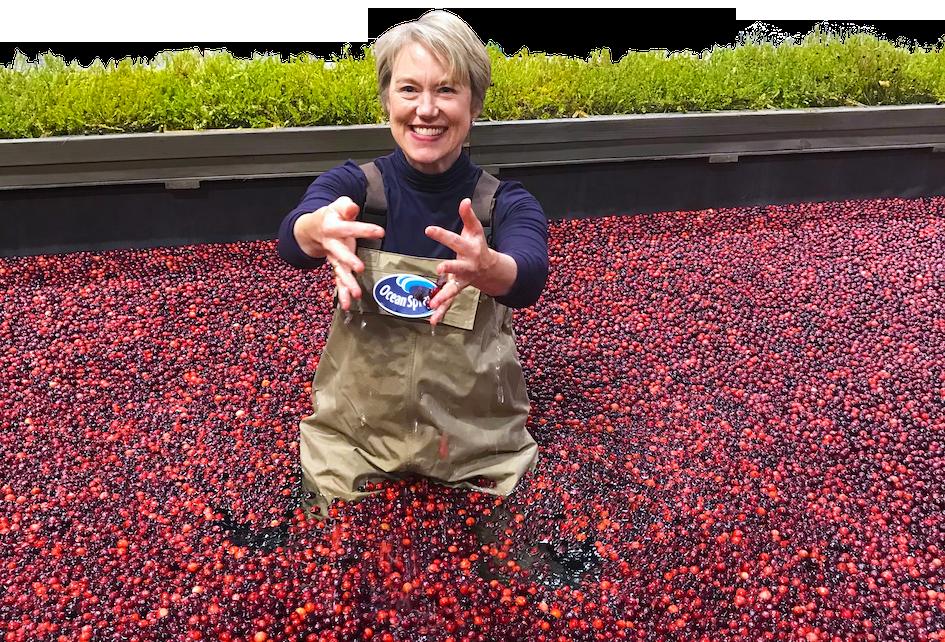 Jennifer Stack Nutritionist in cranberry bog